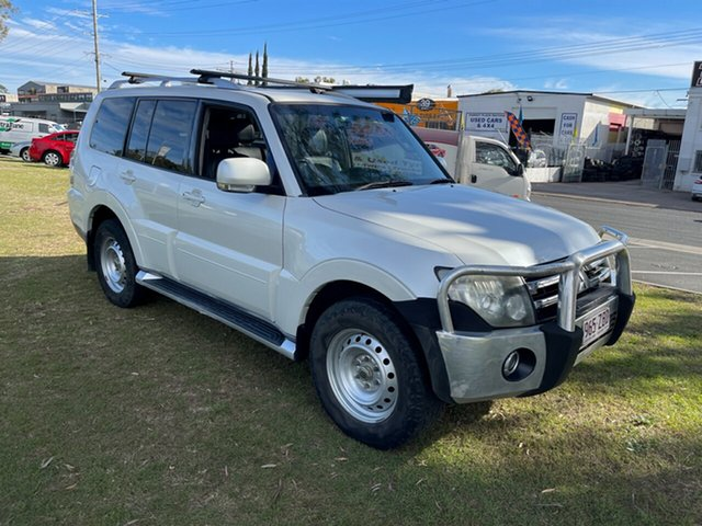 Used Mitsubishi Pajero NS Exceed Clontarf, 2008 Mitsubishi Pajero NS Exceed White 5 Speed Sports Automatic Wagon