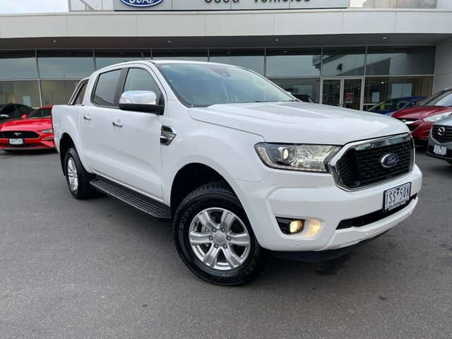 Used Ford Ranger PX MkIII 2021.25MY XLT Essendon Fields, 2021 Ford Ranger PX MkIII 2021.25MY XLT White 6 Speed Sports Automatic Super Cab Pick Up