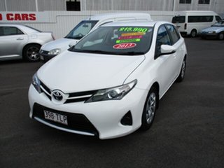 2013 Toyota Corolla ASCENT White 4 Speed Automatic Hatchback.
