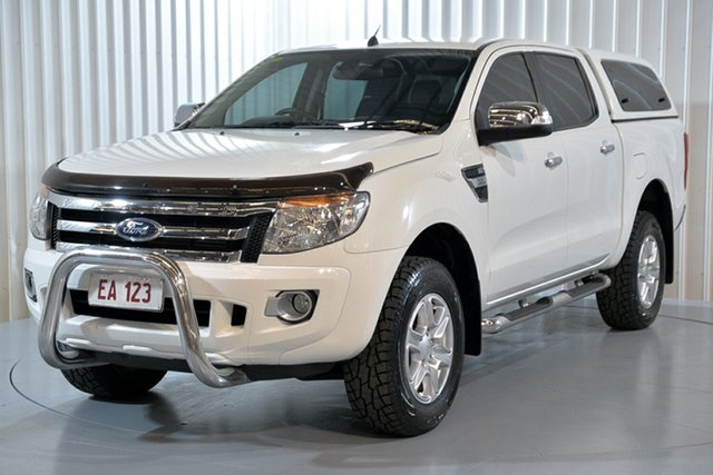 Used Ford Ranger PX XLT 3.2 (4x4) Hendra, 2014 Ford Ranger PX XLT 3.2 (4x4) White 6 Speed Automatic Dual Cab Utility