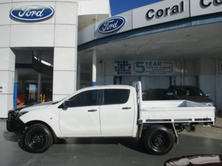 2016 Mazda BT-50 MY16 XT (4x4) White 6 Speed Manual Dual Cab Chassis.