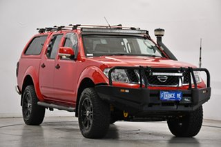 2013 Nissan Navara D40 S6 MY12 ST Red 6 Speed Manual Utility.