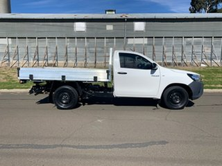 2017 Toyota Hilux GUN122R MY17 Workmate Glacier White 5 Speed Manual Cab Chassis.