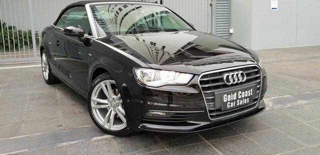 Used Audi A3 8V 2.0 TDI Ambition Southport, 2014 Audi A3 8V 2.0 TDI Ambition Black 6 Speed Direct Shift Cabriolet