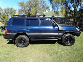 1998 Toyota Landcruiser UZJ100R GXV Blue 4 Speed Automatic Wagon.