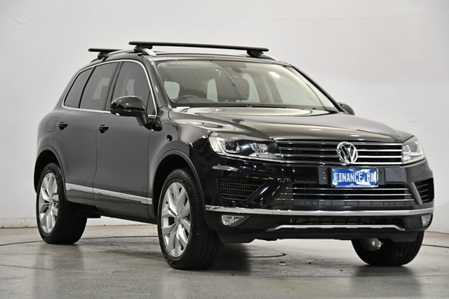 Used Volkswagen Touareg 7P MY17 V6 TDI Tiptronic 4MOTION Victoria Park, 2016 Volkswagen Touareg 7P MY17 V6 TDI Tiptronic 4MOTION Black 8 Speed Sports Automatic Wagon