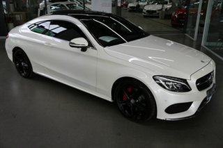 2016 Mercedes-Benz C-Class C205 807+057MY C200 9G-Tronic White 9 Speed Sports Automatic Coupe