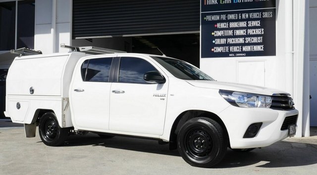 Used Toyota Hilux GGN120R SR Double Cab 4x2 Capalaba, 2015 Toyota Hilux GGN120R SR Double Cab 4x2 White 6 Speed Sports Automatic Utility