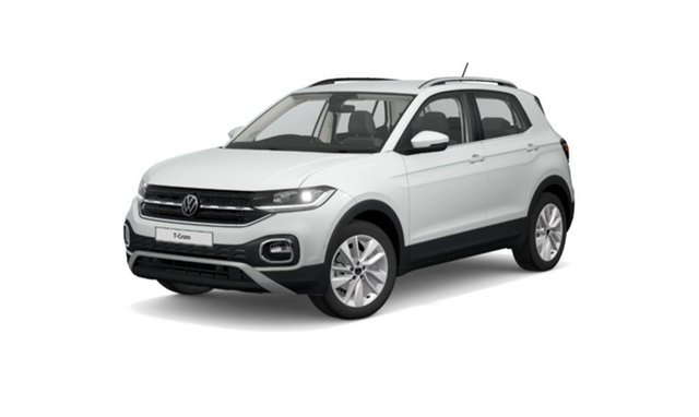 New Volkswagen T-Cross C1 MY21 85TSI DSG FWD Style Port Melbourne, 2021 Volkswagen T-Cross C1 MY21 85TSI DSG FWD Style White 7 Speed Sports Automatic Dual Clutch Wagon