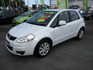 2010 Suzuki SX4 LIANA GLX White 4 Speed Automatic Hatchback.