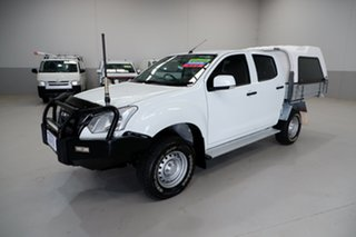 2018 Isuzu D-MAX MY17 SX Crew Cab White 6 Speed Sports Automatic Cab Chassis.
