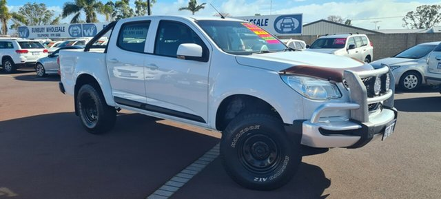 Used Holden Colorado RG MY15 LS Crew Cab East Bunbury, 2014 Holden Colorado RG MY15 LS Crew Cab White 6 Speed Sports Automatic Utility