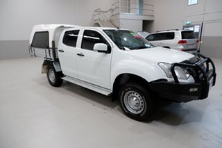 2018 Isuzu D-MAX MY17 SX Crew Cab White 6 Speed Sports Automatic Cab Chassis
