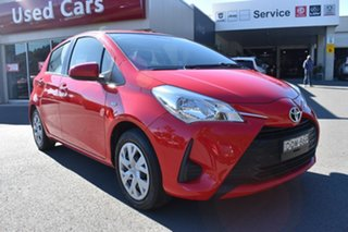 2017 Toyota Yaris NCP130R Ascent Red 4 Speed Automatic Hatchback.