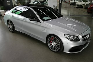 2017 Mercedes-Benz C-Class W205 807+057MY C63 AMG SPEEDSHIFT MCT S Silver 7 Speed Sports Automatic