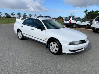 2001 Mitsubishi Magna TJ Advance White 4 Speed Automatic Sedan.