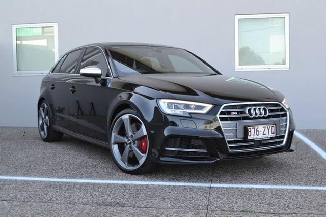 Used Audi S3 8V MY20 Sportback S Tronic Quattro Mundingburra, 2019 Audi S3 8V MY20 Sportback S Tronic Quattro Black 7 Speed Sports Automatic Dual Clutch Hatchback