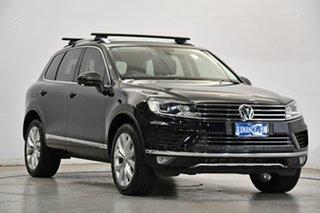 2016 Volkswagen Touareg 7P MY17 V6 TDI Tiptronic 4MOTION Black 8 Speed Sports Automatic Wagon.