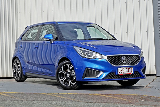Demo MG MG3 SZP1 MY21 Excite Springwood, 2021 MG MG3 SZP1 MY21 Excite Blue 4 Speed Automatic Hatchback