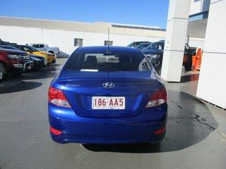 2013 Hyundai Accent RB Active Blue 4 Speed Automatic Sedan.