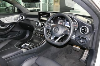 2016 Mercedes-Benz C-Class C205 807+057MY C200 9G-Tronic White 9 Speed Sports Automatic Coupe.