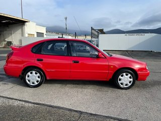 1998 Toyota Corolla AE112R Conquest Red 5 Speed Manual Liftback.