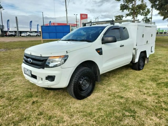 Used Ford Ranger PX XL Hi-Rider Ravenhall, 2013 Ford Ranger PX XL Hi-Rider White 6 Speed Sports Automatic Cab Chassis