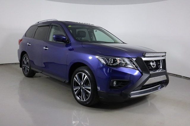 Used Nissan Pathfinder R52 MY19 Series III TI (2WD) Bentley, 2019 Nissan Pathfinder R52 MY19 Series III TI (2WD) Blue Continuous Variable Wagon