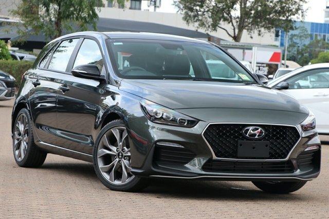 New Hyundai i30 PD.V4 MY21 N Line D-CT Moorooka, 2021 Hyundai i30 PD.V4 MY21 N Line D-CT Amazon Gray 7 Speed Sports Automatic Dual Clutch Hatchback