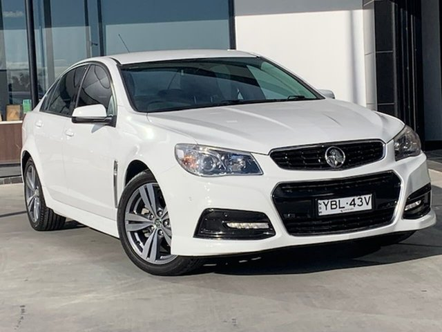 Used Holden Commodore VF MY14 SV6 Liverpool, 2014 Holden Commodore VF MY14 SV6 White 6 Speed Manual Sedan