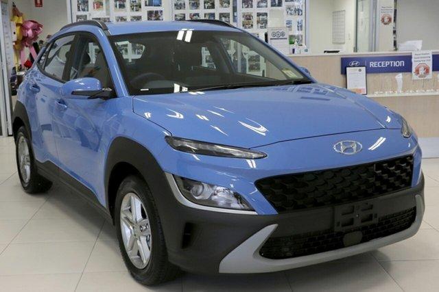 New Hyundai Kona Os.v4 MY21 2WD Berri, 2021 Hyundai Kona Os.v4 MY21 2WD Surfy Blue 8 Speed Constant Variable Wagon