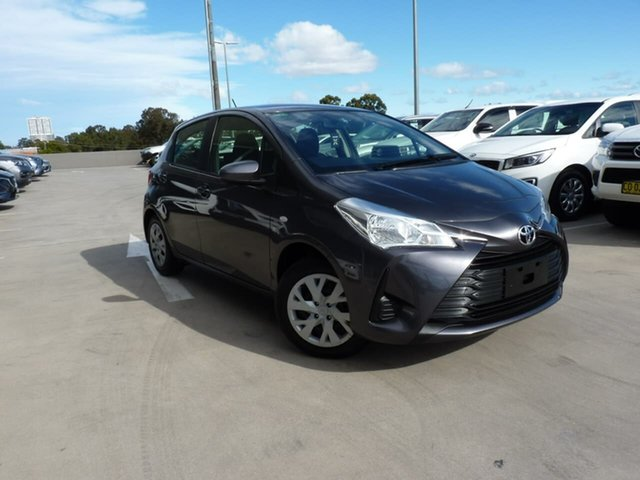 Pre-Owned Toyota Yaris NCP130R Ascent Blacktown, 2018 Toyota Yaris NCP130R Ascent Graphite 4 Speed Automatic Hatchback