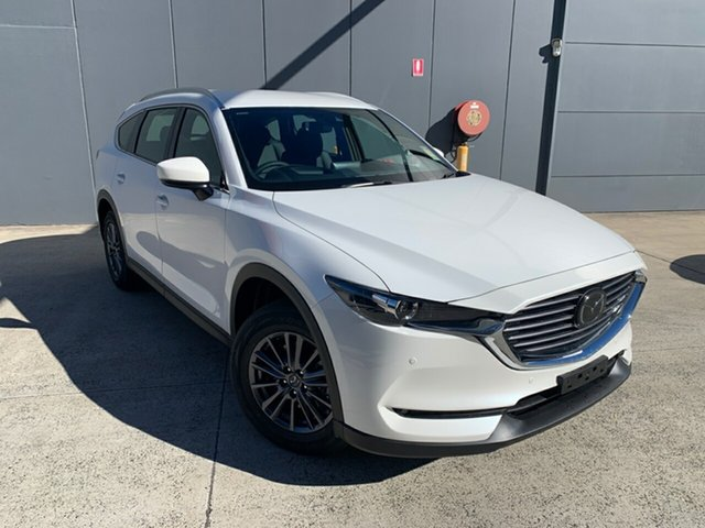 New Mazda CX-8 KG2WLA Touring SKYACTIV-Drive FWD Alexandria, 2021 Mazda CX-8 KG2WLA Touring SKYACTIV-Drive FWD Snowflake White 6 Speed Sports Automatic Wagon