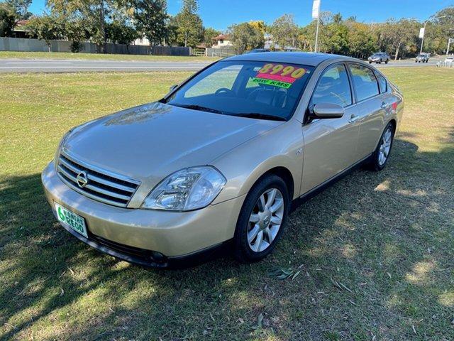 Used Nissan Maxima J31 TI Clontarf, 2004 Nissan Maxima J31 TI Gold & Black 4 Speed Automatic Sedan