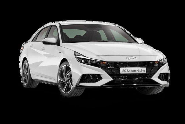 New Hyundai i30 CN7.V1 MY21 N Line Hamilton, 2021 Hyundai i30 CN7.V1 MY21 N Line Polar White 6 Speed Manual Sedan