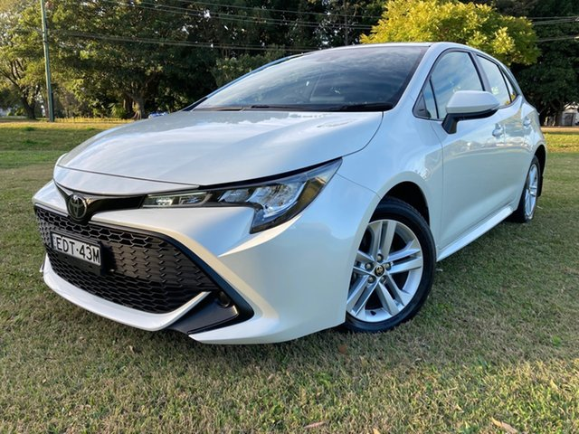 Used Toyota Corolla Mzea12R Ascent Sport South Grafton, 2019 Toyota Corolla Mzea12R Ascent Sport Crystal Pearl 10 Speed Constant Variable Hatchback
