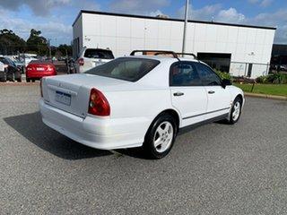2001 Mitsubishi Magna TJ Advance White 4 Speed Automatic Sedan