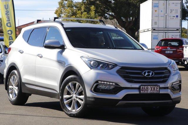 Used Hyundai Santa Fe DM3 MY16 Elite Toowoomba, 2016 Hyundai Santa Fe DM3 MY16 Elite Silver 6 Speed Sports Automatic Wagon