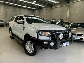 2017 Ford Ranger PX MkII 2018.00MY XLT Double Cab White 6 Speed Sports Automatic Utility.