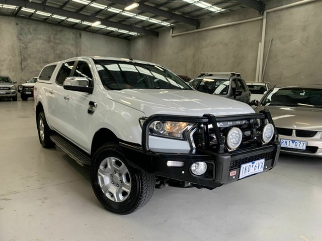 Used Ford Ranger PX MkII 2018.00MY XLT Double Cab Coburg North, 2017 Ford Ranger PX MkII 2018.00MY XLT Double Cab White 6 Speed Sports Automatic Utility