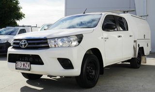 2015 Toyota Hilux GGN120R SR Double Cab 4x2 White 6 Speed Sports Automatic Utility.