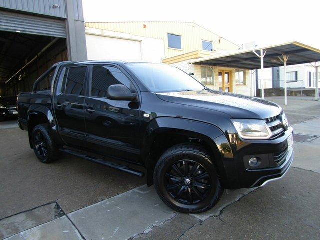 Used Volkswagen Amarok 2H MY15 TDI400 4MOT Dark Label Moorooka, 2014 Volkswagen Amarok 2H MY15 TDI400 4MOT Dark Label Black 6 Speed Manual Utility