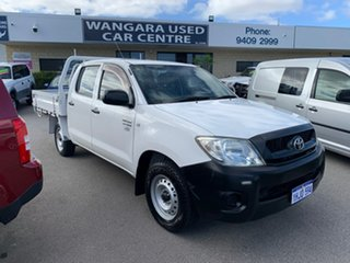 2011 Toyota Hilux TGN16R MY12 Workmate White 5 Speed Manual Dual Cab Pick-up.