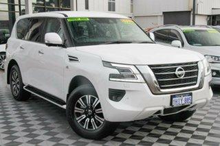 2021 Nissan Patrol Y62 MY21 TI White 7 Speed Sports Automatic Wagon.