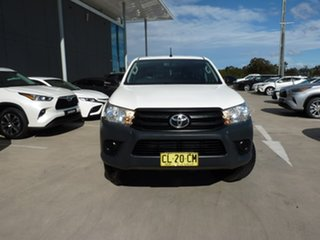 2017 Toyota Hilux GUN125R Workmate Double Cab Glacier White 6 Speed Sports Automatic Utility.