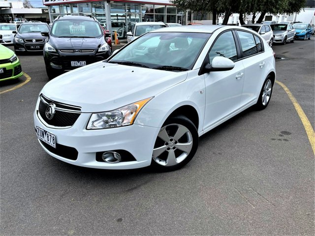 Used Holden Cruze JH Series II MY13 Equipe Seaford, 2013 Holden Cruze JH Series II MY13 Equipe White 6 Speed Sports Automatic Hatchback