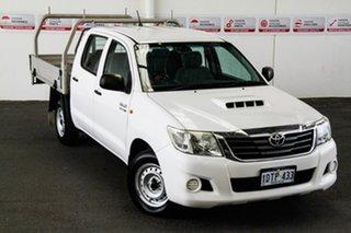 2011 Toyota Hilux KUN16R MY12 SR Glacier White 5 Speed Manual Dual Cab Pick-up.