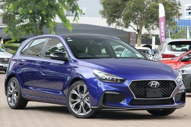 New Hyundai i30 PD.V4 MY21 N Line Premium Aspley, 2021 Hyundai i30 PD.V4 MY21 N Line Premium Intense Blue 6 Speed Manual Hatchback