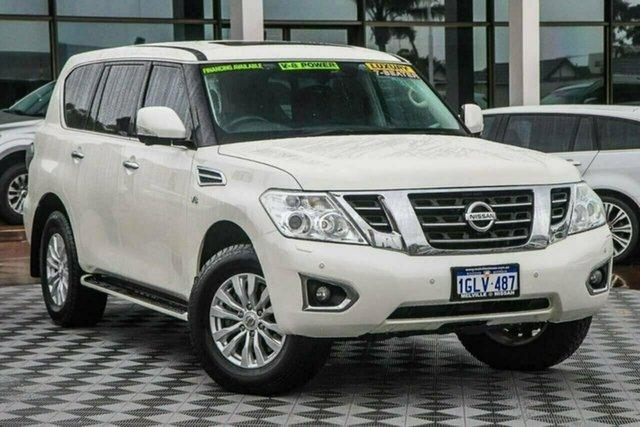 Used Nissan Patrol Y62 Series 4 TI-L Attadale, 2018 Nissan Patrol Y62 Series 4 TI-L White 7 Speed Sports Automatic Wagon