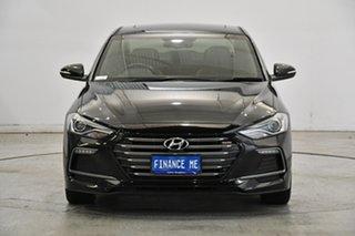 2018 Hyundai Elantra AD MY18 SR DCT Turbo Black 7 Speed Sports Automatic Dual Clutch Sedan.